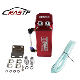 Discount performance parts RASTP -Universal D1 Turbo Engine Square Shape Oil Catch Tank Can Reservoir Performance - Black,Blue,Red RS-OCC002