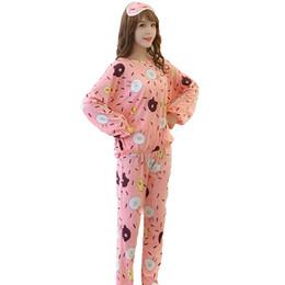 2018 Women Pajamas Sets RN-9 Autumn Winter Long Sleeve Print Cute Sleepwear  Pant+ Top Round Neck Polyester Cute Pajamas b769c79b8
