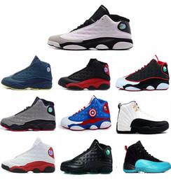 Hologram Shoes NZ - Drop Shipping High Quality shoes Women Men Basketball Shoes 13 13s Bred Black Brown White hologram Flints Grey Boots Sport Sneaker