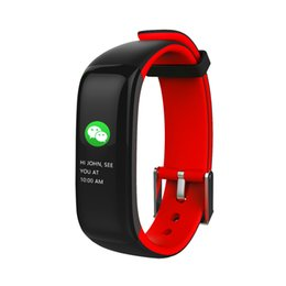 white color windows 2019 - P1 PLUS H1 Plus Pedometer Smart Band Color Display Fitness Bracelet Heart Rate Tracker Blood Pressure Monitor Wristband