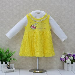 $enCountryForm.capitalKeyWord Canada - 2018 Little Q Baby girl lace princess cute long sleeve spring velvet clothing set ball gown children dress with white t shirt
