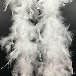 Red Boa Feathers Australia - 1.8m Feather Boa Marabou Scarf Wrap Burlesque Marabou Feather Boa Wedding Marabou Feather Boa Scarf White Black Pink Red Yellow z903