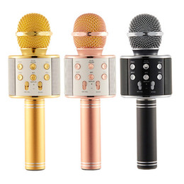 $enCountryForm.capitalKeyWord NZ - WS-858 Microphone Wireless Speaker Portable Karaoke Hifi Bluetooth Player WS858 For iphone 6 6s 7 ipad Samsung Tablets PC free DHL