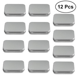 Discount small metal storage boxes - 12pcs  Set Metal Box Small Items Collection Cards Storage Box Steel Mini Objects Tinplate Container (Silver)