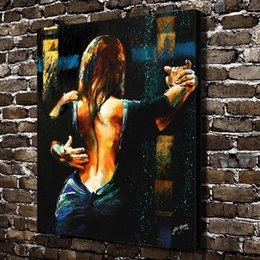 $enCountryForm.capitalKeyWord UK - Woman Argentine tango Hand-painted & HD Print Art oil painting On Canvas Home Decortion Wall Art High Quality p408