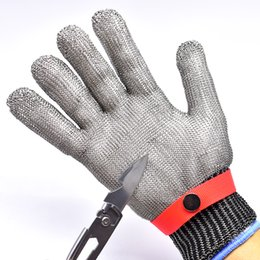 anti cutting gloves 2019 - FGHGF Breathable Comfortable Safety Cut Proof Stab Resistant Stainless Steel Metal Mesh Gloves Anti-cutting Gloves disco