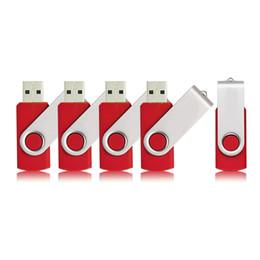 64 Gb Flash Drive Australia - Red 5PCS LOT 1G 2G 4G 8G 16G 32G 64G Rotating USB Flash Drives Flash Pen Drive High Speed Memory Stick Storage for Computer Laptop Macbook