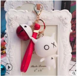 $enCountryForm.capitalKeyWord Australia - Cartoon Keychain pendant, fashion bell, female bag, key chain ring, car accessories