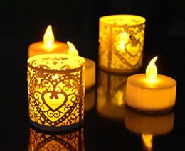 Flicker Candle Lights Australia - (24pcs candle+1pcs remote) Yellow Flickering LED Candle Remote Control Light Battery Operated Tealight Halloween Decorative LED Tea Light