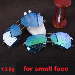 Mirror Tint Sunglasses NZ - Vazrobe(13.8g) Polarized Sunglasses Men Women Driving Narrow Sun Glasses Man Small Face Frameless Aviation Tinted Pink Mirrored