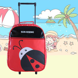 $enCountryForm.capitalKeyWord Canada - New Free Shipping Cartoon Multiple-Function Child Rolling Luggage Trolley School Bag Kid Backpack Unisex Tour Suitcase in Stock