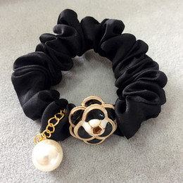 Smart hair online shopping - NEW Smart C matel round buckle hair ties Luxury hair rope Fashion Ornament accessories Classic Elastic headbands VIP Gift for party