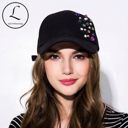 $enCountryForm.capitalKeyWord Australia - GZHILOVINGL New Fashion Cotton Diamond Baseball Cap Snapaback Hat For Women Solid Adult Casual Girls Adjustable Baseball Caps