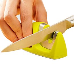 Marca Dois Estágios (Cerâmica Diamante) Afiador de facas, Sharpening Stone Household Knife Sharpener Cozinha Ferramentas