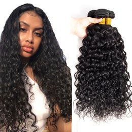 $enCountryForm.capitalKeyWord Australia - Factory vendor Virgin Brazilian Human hair extension water wave hair bundles, Wholesale 100% Brazilian Virgin Sew in weave for Msjoli hair