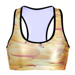 $enCountryForm.capitalKeyWord Canada - Women Sports Bra Banana 3D Graphic Print Yoga Gym Fitness Runner Running Sportwear Digital Bras Push Up Crop Tops Tank Vest RLSsb-0084)