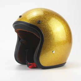 $enCountryForm.capitalKeyWord NZ - Hot Sale Unisex Vintage Motorcycle Helmets Open Face Half Motorbike Helmet Capacete free shipping S M L XL XXL size gold color