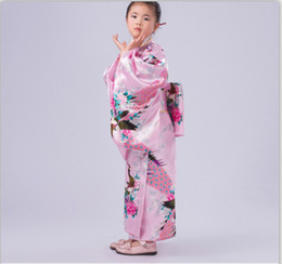 c9d67d5f8 2017 new Japanese Kimono Vintage Original Novelty Floral Child Party Dress  Kid Girl Cospaly Costume High quality free shipping