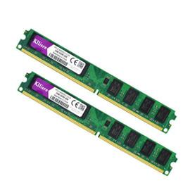 Горячие продажи 4 ГБ(2pcsX2GB) DDR2 2 ГБ оперативной памяти 800 МГц PC2-6400U 240Pin 1.8 V CL6 Desktop Memory бесплатная доставка