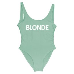 China BLONDE 2018 Women One Piece Swimsuit Sexy Bodysuit Swimwear 11 Colors Red Swim Suit Backless Mayo Monokini Sexy Badpak One-Piece YWXK cheap blonde gold suppliers