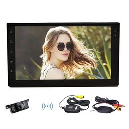 Touch Screen 2din Car Dvd Australia - Wireless Backup Camera+Android 6.0 Car Auto Radio Stereo NO DVD CD Player Touch Screen Double 2Din Quad Core In Dash Headunit GPS