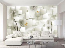 $enCountryForm.capitalKeyWord NZ - 3D Wall Mural Box square Wallpaper For Walls Luxury blue 3D stereoscopic bedroom Living room TV backdrop Wallpaper