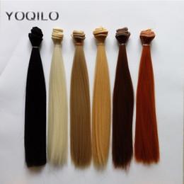 bjd hair accessories 2019 - 6PCS LOT Hot Sale Doll Accessories DIY Straight Doll Hair BJD Hair Wig 25CM cheap bjd hair accessories
