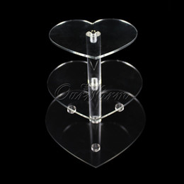 $enCountryForm.capitalKeyWord NZ - New 3 Tier Wedding Cake Crystal Stand Clear Acrylic Cupcake Stands for Wedding Decorated Birthday Party Cake Display Supply