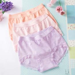 Lace For Cotton NZ - colorful cotton briefs for women lace lingerie underwear panties high waist seamless girls ladies underwear DHL