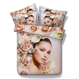 3d Bedding Sets King Australia - 3D pink floral Duvet Cover girls Bedding Sets Bedspreads Holiday Quilt Covers Bed Linen Pillow Covers bedding sets twin California King