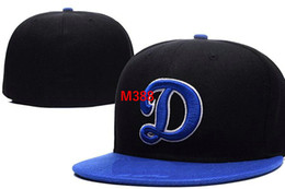 Linen goLd online shopping - Dodgers Team Fitted hats Baseball Embroidered Team Letter Flat Brim Hats Baseball Size Caps Brands Sports Chapeu for men and women
