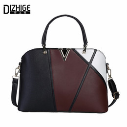 Multi Color Hand Bag Australia - DIZHIGE Brand 2017 Fashion Patchwork Women Handbag V Letter Shoulder Bag PU Leather Bags Women Designer Ladies Hand Bags New Sac