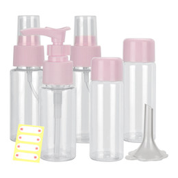 Travel Plastic Cosmetic Bottles NZ - Travel Refillable Makeup Spray Bottle Portable Recyclable Plastic Bottle Leak-proof Container Squeezable Makeup Cosmetic Tool Travelling Kit