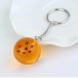 car cartoons NZ - Popular Japanese Cartoons Dragon Ball Series Keyring Jewelry Five-pointed Star Spherical Keychain Pendant Car Gifts Accessories