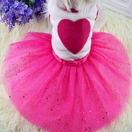 $enCountryForm.capitalKeyWord Australia - Cute Pet Dog Dress Bling Princess Love Clothes Flower Supplies Fashion Lace Cat Dog Dress Spring Summer Puppy Skirt Pet