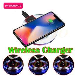 Universel cristal fantaisie LED lumière chargeur sans fil pour iPhone X 8 Plus Samsung Note 8 S8 S7 LG Pad de charge avec paquet de détail
