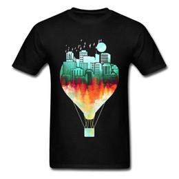 Balloon Cotton Australia - 2018 Cheap Sale Air Balloon T-Shirt Student Top T-Shirt High Quality cotton Customized Tshirt