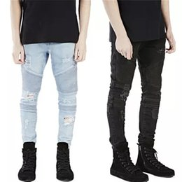 Jogger Jeans Ripped Mens Canada - BDLJ 2018 New Famous Brand Designer Slim Fit Ripped Jeans Men Mens Distressed Denim Joggers Knee Holes Washed Destroyed Jeans