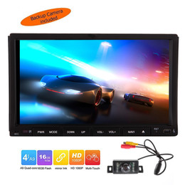car touch screen stereo systems UK - Android 6.0 Quad Core Double 2 din Car DVD Player Auto Stereo System GPS Navigation 7'' Touchscreen Auto Radio Audio Receiver Bluetooth