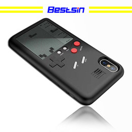 Game console shells online shopping - Bestsin D Game Machine Phone Case Cover For iPhone Rubber Mobile Shell Retro Game Boy Tetris Console Phone Case Decompression Toy