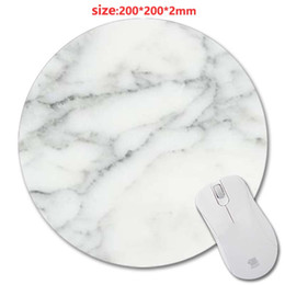 Yellow Gaming Laptop Australia - Congsipad Size 20*20cm White marble 3D printing Round Rubber Soft Gaming Mouse pad lasting computers laptops mouse pad As Gift