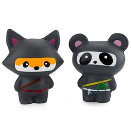 wholesale ninja toys UK - Squishy Toys Slow Rising Decompression Toys Jumbo Ninja Panda Fox For Kids Adults Stress Relief Toy DHL Free