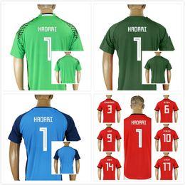 Custom 2018 World Cup Egypt Soccer Jersey M. SALAH 1 HADARI Home Red  Goalkeeper 18 19 KAHRABA A. HEGAZI RAMADAN uniforms football shirts 6044486c4