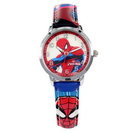 Wholesale 2018 Fashion Casual cartoon Kids Watches for Boys Luxury Quartz Wrist Watches for Children Boy Spiderman Students Wristwatches