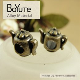 Wholesalers For Teapots NZ - BoYuTe (60 Pieces Lot) 14*13*12MM Zinc Alloy Teapot Charms Beads Antique Bronze Plated Metal Beads for Jewelry Making Diy Bracelets