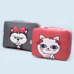 China PACGOTH Japanese and Korean Style Kawaii Oxford Super Big Storage Special Purpose Bag Cosmetic Cases Cute Animal Prints Dog Cat cheap cosmetics kawaii suppliers