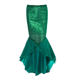 China Newest Ladies Women Christmas New Year Costume Mermaid Tail Skirt Party Long Maxi Skirt Cosplay Costume for woman cheap mermaid costumes for women suppliers