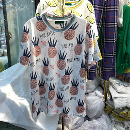 $enCountryForm.capitalKeyWord Canada - Pineapple Letter Print T-shirts Women Short Sleeve 2018 Summer New Korean Style Casual Loose Vogue Tees Shirt Femme Funny Tops