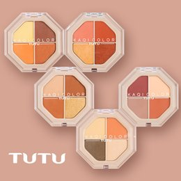 $enCountryForm.capitalKeyWord Australia - TUTU 4 Color Eyeshadow Matte Makeup Palette Pigmented Color Payoff Shimmer Charming Eye Shadow Waterproof Cosmetic Long Lasting