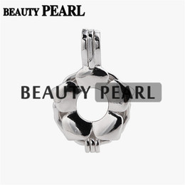 $enCountryForm.capitalKeyWord NZ - 5 Pieces Pearl Pendant Mount Gift Flower Cage Love Wish Pearl 925 Sterling Silver Cage Lockets